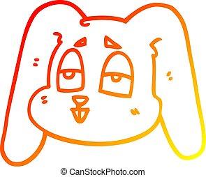 gradiens, nyuszi, meleg, üregi nyúl, megtölt rajz, karikatúra