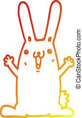 gradiens, rajz, meleg, üregi nyúl, egyenes, karikatúra