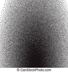 gradiens, stochastic, raster, nyomtat, halftone