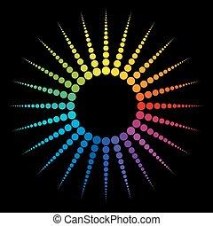 gradient, arc-en-ciel, étoile