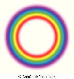 Gradient Aura Ring Subtle Body Circle Rainbow
