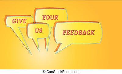 give me feedback speech bubbles