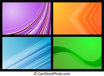 Various colourful gradient backgrounds in bright colours
