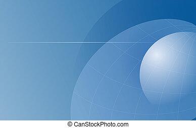 Gradient Blue Globes