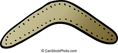 gradient, boomerang, vecteur, dessin animé, illustration