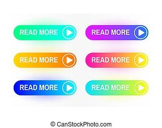 Gradient buttons flat design  web and ui application color