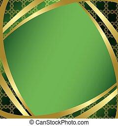 gradient, cadre, vert, centre
