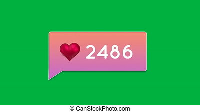 Gradient chat box with numbers 4k