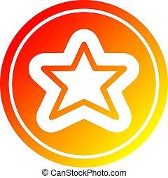 gradient, chaud, étoile, spectre, forme
