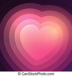 gradient, coeur, résumé, fond, 0401