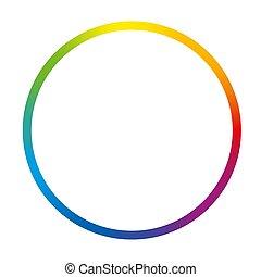 Gradient Color Ring Rainbow Circle