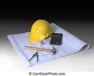 gradient, construction, planification