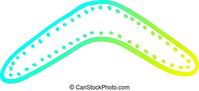 gradient, dessin animé, boomerang, froid, dessin, ligne