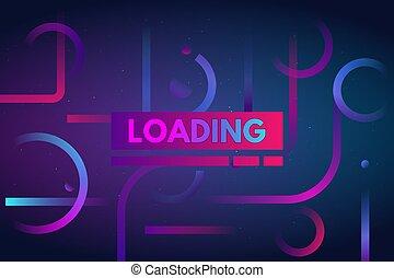 Gradient dynamic loading bar background