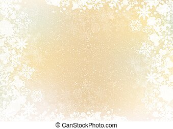 Gradient elegant winter background with snowflake border
