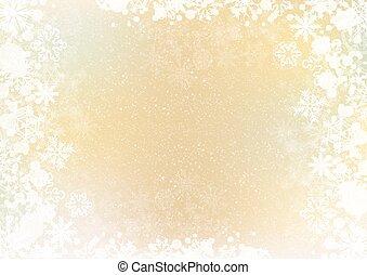 Gradient elegant winter background with snowflake border