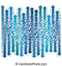 gradient, flèches, pixel, collection