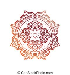 gradient floral mandala on white background