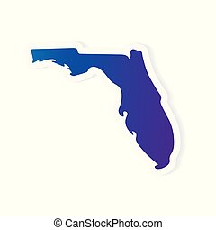 gradient Florida map- vector illustration