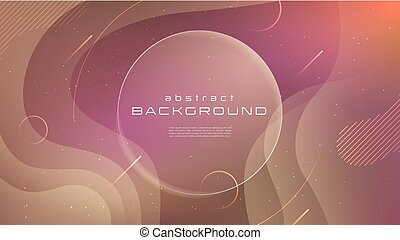 Gradient fluid red soft color abstract background. Liquid shapes futuristic concept. Creative motion geometric wallpaper. Design for Banners, Placards, Posters, Flyers, Cover. Eps 10 vector