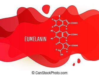 gradient, fond, forme, chimique, copie, eumelanin, blanc, ...