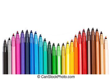 Gradient from open felt tip pens