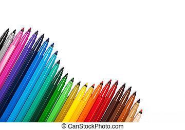Gradient from open felt-tip pens