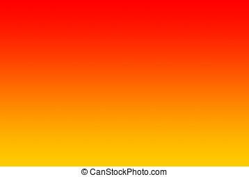 Gradient from yellow via orange to - An horizontal gradient...