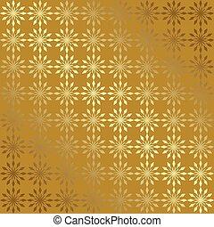 gradient, géométrique, vecteur, fond, or