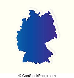 gradient Germany map- vector illustration