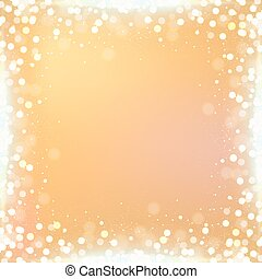 Gradient gold square background with bokeh border