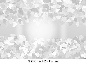 gradient, gris, résumé, blanc, arrière-plan.