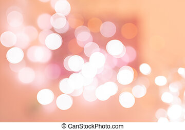 Gradient light pink abstract blur background with bokeh.