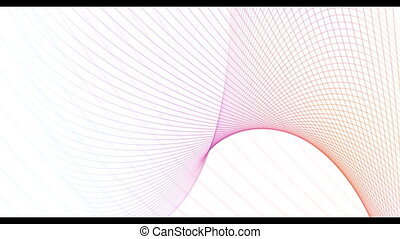 gradient, lignes, résumé, futuriste, géométrique, fond