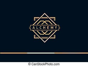 gradient,  logo, alchimie, linéaire