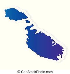 gradient Malta map- vector illustration