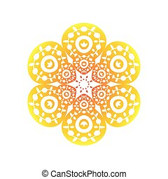gradient mandala, decoration oriental on white background