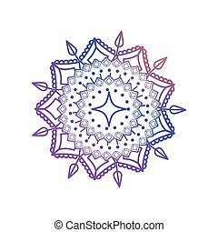 gradient mandala, ethnic ornament on white background