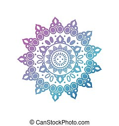 gradient mandala for henna on white background