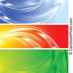 gradient, mesh), bannières, coloré, (no
