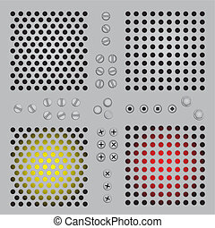 Gradient metal holes background