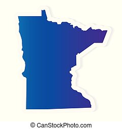 gradient Minnesota map- vector illustration