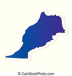 gradient Morocco map- vector illustration