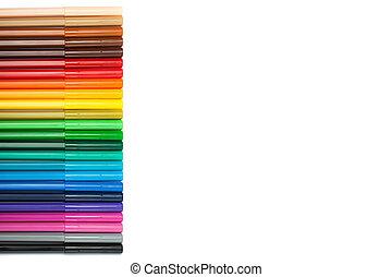 Gradient of felt-tip pens