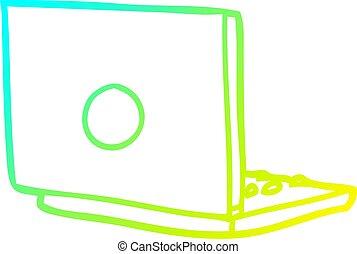 gradient, ordinateur portable, dessin, informatique, ligne, froid