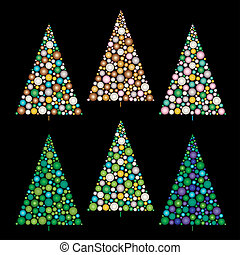 gradient ornament Christmas trees