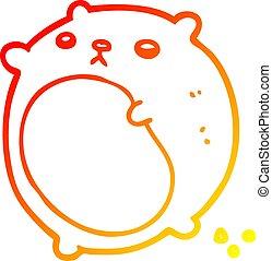 gradient, ours, dessin, chaud, ligne, dessin animé