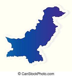 gradient Pakistan map - vector illustration