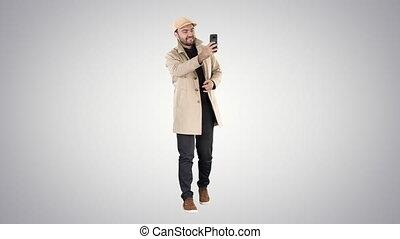 gradient, photo, prendre, gai, arrière-plan., manteau, ...