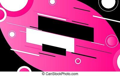 Gradient pink banner background.